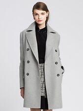 NWT Banana Republic Women's Gray Long Peacoat Jacket, Gray SIZE S