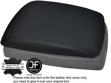 BLACK STITCHING ARMREST LID LEATHER COVER FITS KIA SORENTO 2002-2006