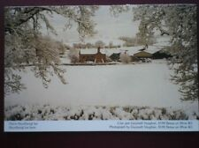 POSTCARD D4-6 DENBIGHSHIRE BRYNFFANIGL ISA FARM - COVERED IN SNOW