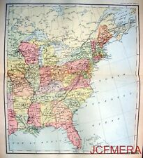 Antique Johnston Map 1892 - UNITED STATES of North AMERICA (Eastern States)