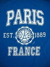 Paris France Official Souvenir Vacation Tourism Teal T Shirt M