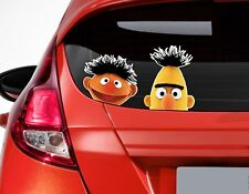 x2 Peeping Bert & Ernie funny Car or Van Window / Bumper Decal Sticker