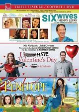 Six Wives of Henry Lefay/I Hate Valentine's Day/Penelope (DVD, 2011)New