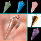 7 Colors Gemstone crystal healing geometric point chakra reiki pendant bead 37mm