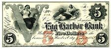 $5 Egg Harbor Bank, Nj - Cu 1861 -Ex Q David Bowers New Jersey Obsolete Currency