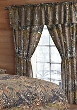 NATURAL CAMO THE WOODS CURTAINS 5 PC SET AND VALANCE DRAPES NEW WOODS DRAPES