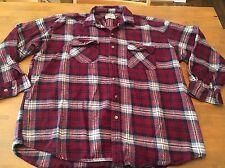 mens C.E. Schmidt workwear flannel shirt heavy Thick XXL Nice! EUC