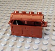 NEW PART / Lego Pirate / Treasure Chest / Brown / Island / Ship / Fill W-Gold