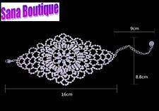 Fashion Rhinestone Bracelet for Woman Wedding Hollow Out Hand Chain,As on Hijab