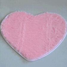Heart Shaped Shaggy Fluffy Rugs Anti-Skid Area Rug Carpet Home Bedroom Floor Mat