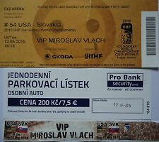 VIP TICKET Eishockey WM 12.5.2015 USA - Slowakei in Ostrava