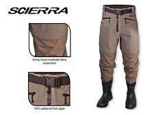 SCIERRA CC3 XP Bootfoot Waist waders Cleated Sole sz 11/12, Breathable waders