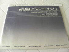 Yamaha AX-700/U Owner's Manual  Operating Instructions Istruzioni New