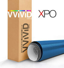 VViViD Metallic Blue carbon fiber vinyl car wrap 5ft x 5ft decal paint-protect