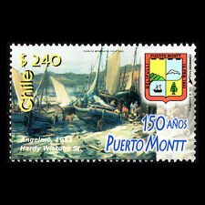 Chile 2003 - 150th Anniversary of Puerto Montt Ships Painting Art - Sc 1420 MNH