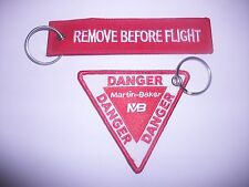 RAF AVIATION REMOVE BEFORE FLIGHT DANGER MARTIN BAKER DESIGN  KEY RINGS .