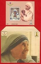 [008] Miniature Sheet Mother Teresa with Special Envelope 1997 MNH