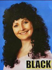 Long Black Curly Perm Wig Fancy Dress