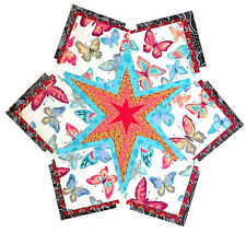"BUTTERFLIES 55-4"" Quilt Squares Batik Kits Hawaiian Blocks PRE CUT PATCHWORK"