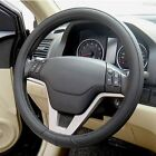 Top Quality Leather Texture Soft Auto Car Steering Wheel Cover Shell Black