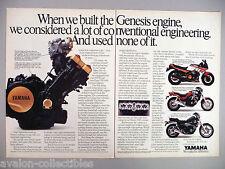 Yamaha FZ750, Fazer & Maxim Motorcycle Double-Page PRINT AD - 1986