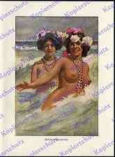 Schultz-Wettel Frauen Samoa Akt nackt Völkerkunde Poesie Romantik Kolonien 1910