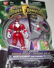 """Mighty Morphin Power Rangers Red 4"""" with Light up Dino Fly 2010 New TRANSPARENT"""