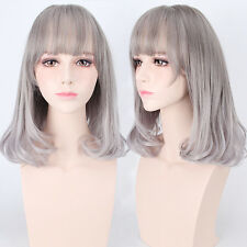 Gray Gradual change curly hair  lolita  wig  fashion party cosplay 55cm 21.6""