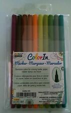 Marvy Uchida Color In Markers Brush Tip 4400B-10D -EARTH TONES