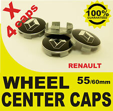 tapas llantas  ruedas RENAULT NEGRO  wheel center caps 55mm 60mm 4x