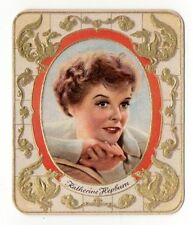 Katherine Hepburn 1934 Garbaty Film Star Series 1 Embossed Cigarette Card #76