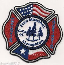 "Arson - Livingston - Fire Marshal Office, TX  (4"" x 4"" size) fire patch"