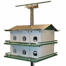 NATURE HOUSE TRIO CASTLE PURPLE MARTIN BIRD HOUSE 12 ROOM COMPLETE SAFETY SYSTEM