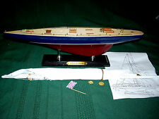 """WOODEN MODEL SAILING SHIP/BOAT, """"Endeavour"""", New Condition,Great Nautical Decor"""