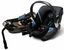 Cybex Aton 2 Infant Baby Car Seat & Base w/ Load Leg Black Sea NEW
