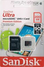 SANDISK ULTRA 200GB MICROSDXC UHS-I CARD 90MBS SDSDQUAN-200G-G4A SEALED RETAIL!!