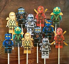 12- LEGO NINJAGO Cupcake and Cake Toppers Birthday Party Supplies