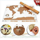 Travel Edition Vacation Gift Scratch Off World Map Creative Poster Present
