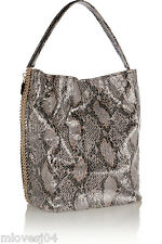 STELLA MCCARTNEY Boo Faux Python Hobo Faux Leather Shoulder bag Falabella BNWT