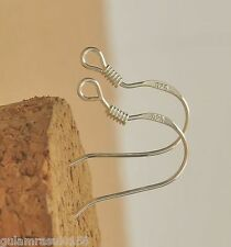 WHOLESALE 50pc 18mm Sterling 925 Silver Plated Earring Hooks Ear Wire CHEAP