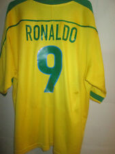 Brazil 1998-2000 Ronaldo 9 Home Football Shirt XL /34061