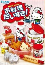 Re-ment Sanrio Dollhouse Hello Kitty I Love Cooking in Kitchen Full Set Of 8