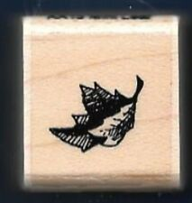 MAPLE TREE LEAF Falling AA13 Mini Landscape New STAMPENDOUS! 1989 RUBBER STAMP