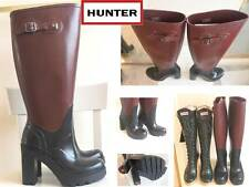"*Ultra Rare 20"" Tall 18"" Calf 5"" Heel Hunter Rubber Boots Lapins Lonny US8 EU39"