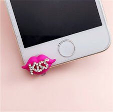 """Kiss"" Lips 3.5mm Front Anti-Dust Ear Cap Plug For iPhone6s,6s Plus 5th,6,6 Plus"