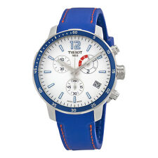 Tissot Quickster Chronograph Soccer World Cup 2014 White Dial Blue Silicone Mens
