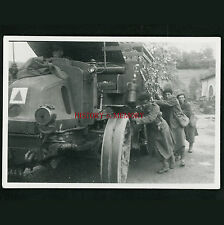 PHOTO WW2 1940 CAMION LATIL TAR TRAIN ARTILLERIE GEBIRGJÄGER COLONIAUX TRUCK