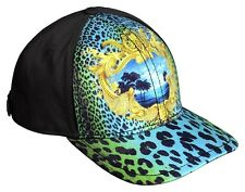 BNWT VERSACE For H&M EXCLUSIVE Black Leopard Printed Miami Cap Snapback Unisex