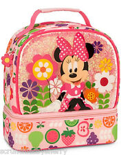 Disney Store Minnie Mouse Lunch Box Bag Tote School Pink 2015