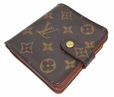Auth Louis Vuitton Monogram Wallet Zipped zippy compact purse Porte-monnaie mn15